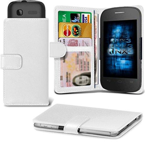 (White) Alcatel Idol 3C Hülle Abdeckung Cover Case schutzhülle Tasche Verstellbarer Feder Mappe Identifikation-Kartenhalter-Kasten-Abdeckung ONX3