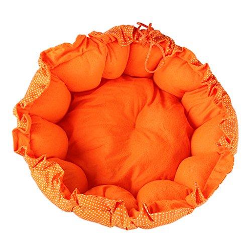 (Dolity Hundebett/Katzenbett mit Zugband, auch als Hundedecke Hundematte katzenmatte geeignet - Gelb M)
