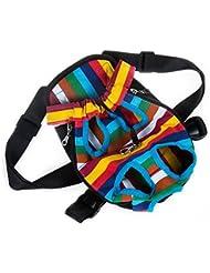 Durable cómodo lienzo Tejido cabeza out diseño mascota cachorro perro frontal Pack de bolsas mochila para portátil para perros pequeños para al aire libre viaje senderismo