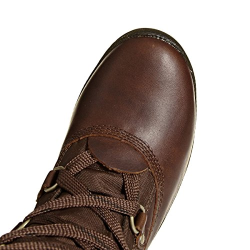 Timberland Mount Hope Fabric and Leather Waterproof, Polacchine Donna Tobacco