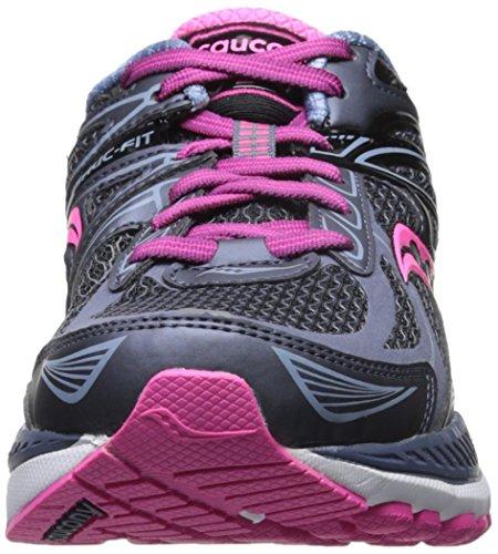 Saucony Women's Echelon 5 Running Shoe, Grey/Pink, 10 W US Grey/Pink