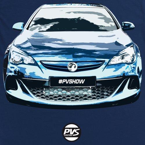 Vauxhall Astra VXR T-Shirt, Damen Dunkelblau