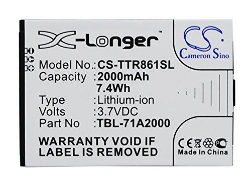 Cameronsino batteria 2000 mAh TBL-71A2000 per router Wifi TP-Link M5350, TL-TR761, TL-TR861, Li-Ion 3.7V