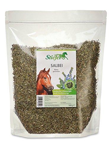 500 Salbei (Stiefel Salbei 500g Tüte für Pferde für Atemwege und Verdauung, kann positiv den Magen-Darm-Trakt beeinflussen)