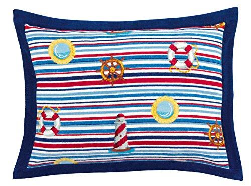 Feiler portoki030204 Kissenbezug mit Stehsaum Porto Größe 70 x 50 cm, blau