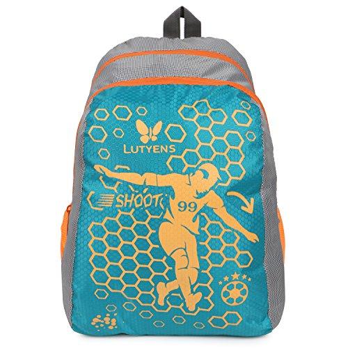 Lutyens Polyester Aqua Grey School Bag (17Litre) (Lutyens_269)
