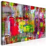 decomonkey | Mega XXXL Bilder Abstrakt | Wandbild Leinwand 160x80 cm Einteiliger XXL Kunstdruck zum aufhängen | wie gemalt bunt