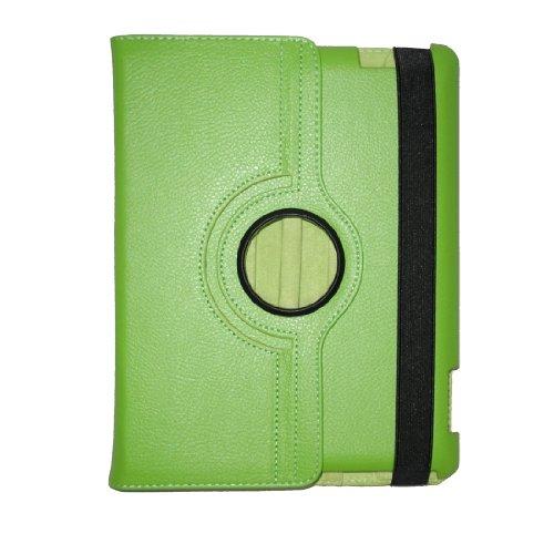 Apple Pda-fall (Echt Leder Grün Case & Folio für Apple iPad mit verstellbare integrierte Standfunktion)