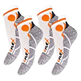 4 Paar Original CFLEX Lauf-Sneakersocken Weiss/Orange-43-46