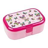 Lunchbox * SCHMETTERLINGE * für Kinder von Lutz Mauder // Frühling Brotdose ohne Namensdruck // Perfekt für Mädchen // Vesperdose Brotzeitbox Brotzeit (ohne Namen)