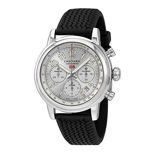 Chopard mille miglia cronografo automatico argento quadrante mens orologio 168589–3001