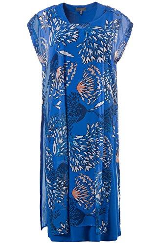 Ulla Popken Damen große Größen Slinkykleid 710635 Blau