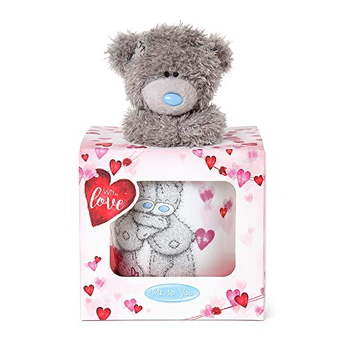 Me To You Love Heart Taza y Tatty Teddy Bear Set de Regalo (Carte Blanche Greetings Ltd VGZ01016)