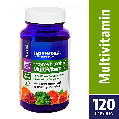 Enzymedica Enzyme Nutrition Multi Vitamin for 50 Plus Women – Pack of 120 Capsules