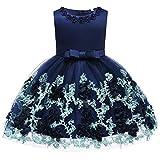 FYMNSI Baby Partykleid Blumenmädchen Hochzeitskleid Brautjungfer Kleid Kleinkinder Mädchen Tutu Prinzessin Abendkleid Babykle