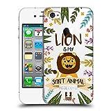 Head Case Designs Löwe Seelen Tiere Abbildungen Ruckseite Hülle für iPhone 4 / iPhone 4S