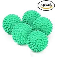 BRAMBLE! 5 x No Derriten - Bolas de Secadora Reutilizables – Bolas de Secado para Lavandería. Suavizante de Ropa - Verde/Rojo (Verde)