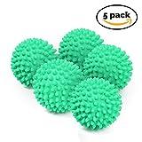 Bramble - 5 x No Derriten - Bolas de Secadora Reutilizables – Bolas de Secado para Lavandería. Suavizante de Ropa - Verde / Rojo (Verde)