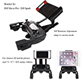Crazepony-UK Adjustable Cellphone Tablette Monitor Holder Bracket for DJI Mavic Pro DJI Spark Drone Transimitter Accessories Fits All Smartphones 7.9 / 9.7 / 10.9 inches Tablets
