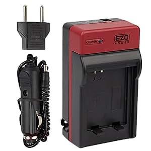 EZOPower 885157768368 Auto/Indoor Noir, Rouge chargeur de batterie - chargeurs de batterie (100-240, 50/60, 4,2 V, Noir, Rouge, Auto/Indoor battery charger, Samsung WB350F, WB1100F, WB2100, WB250F, WB800F)