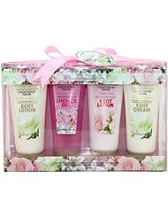 Gloss Garden Dreams Badeset Geschenkset Rose, Lily und Freesia, Jasmine und Magnolia 3 teiliges, 1er Pack (1 x 560 g)