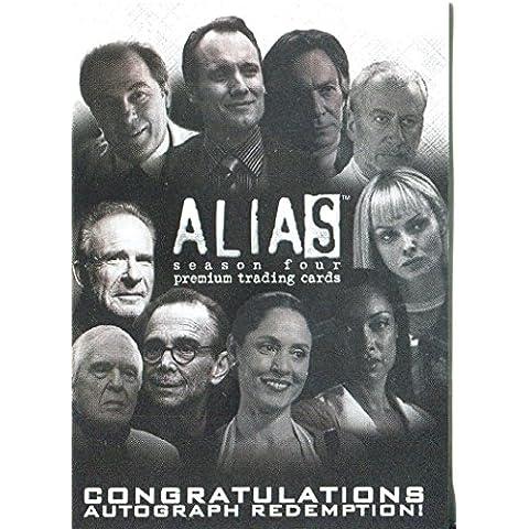 Alias stagione 4 AR1-Redemption lasciare Unreleased Autograph carte Rare