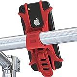 Soporte del Teléfono Móvil para Bicicletas y Motos Universal Ultra Estable, con una sujeción perfecta--Fnova (Rojo)