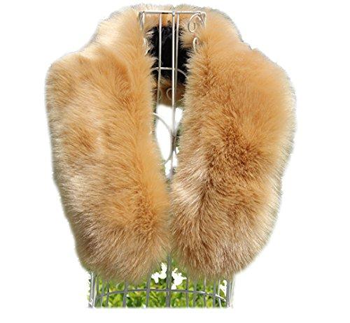 Modelshow Donna Artificiale Pelliccia Ecologica Collare smontabile Fazzoletto da Collo Staccabile Collo Scaldino Collare per Cappotti Scialle Inverno