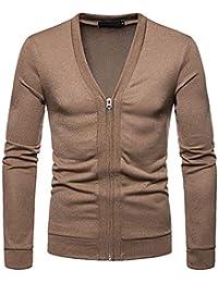 cc52286b400638 ZIYOU Herren Strickjacke mit Reißverschluss, Beiläufige Slim fit Pullover  Dünn Sweatshirts Jumper Outwear ...