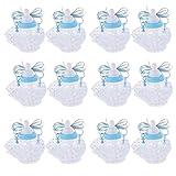MagiDeal 12 x Baby Party Milch Flasche Form Geschenkbox - Blau