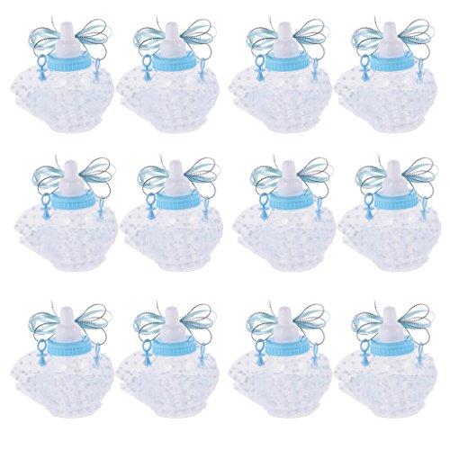 arty Milch Flasche Form Geschenkbox - Blau (Baby Dusche Süßigkeiten Formen)