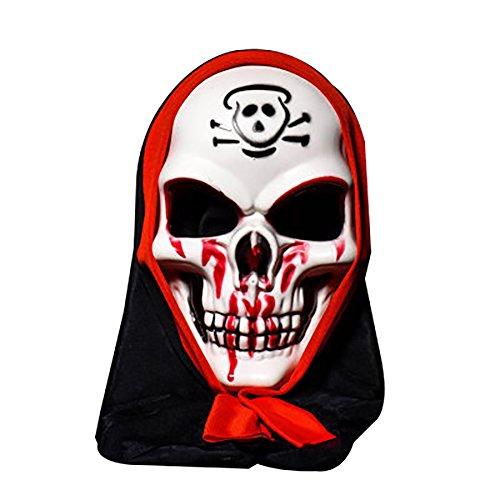 Schädel Vampire Mask Bar Tanz Horror Scary Seele Requisiten Dämonen Teufel (Scary Halloween Namen)