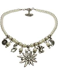 Alpenflüstern Damen Perlen-Trachtenkette Marie cremeweiss DHK01400011