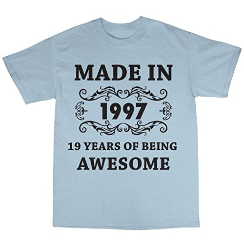 Made In 1997 T-Shirt 100% Baumwolle Hellblau