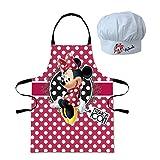 Minnie Mouse - Set cocina con delantal y gorro, talla 3-8 años (Sun City MID101035)