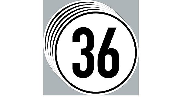 Aufkleber Sticker 36 Kmh Km H 20cm Schild Geschwindigkeit Für Bagger Traktor Schlepper Zugmaschine Multicar Anhänger Fahrzeug 5 Auto