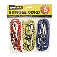 Ardisle 6 BUNGEE STRAPS CORDS WITH HOOKS ELASTICATED ROPE CORD CAR BIKE LUGGAGE TIE DOWN
