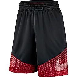 Nike Elite Reveal Short - Pantalón corto para hombre, color negro / rojo / plateado, talla XL