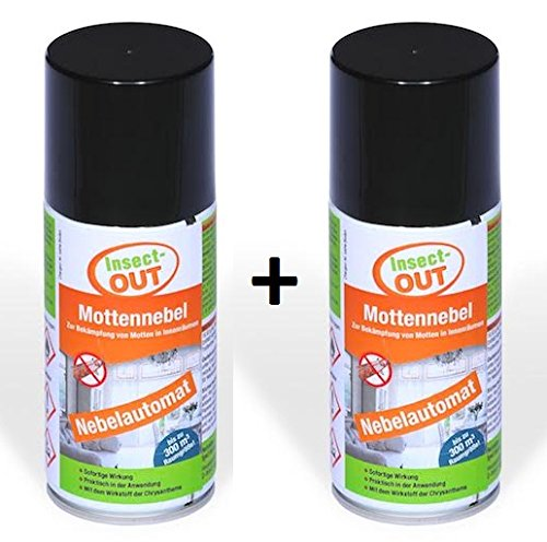Insect-OUT 2er Set Mottennebel 150 ml - Mit dem Wirkstoff der Chrysanthemenblume -