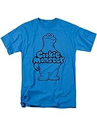 Sesame Street Classic Children's TV Show Cookie Monster Body Adult T-Shirt Tee