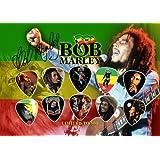 Bob Marley Signed Autograph Púa Para Guitarra Display (Limited to 500 Prints)