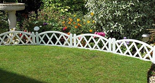 Delightful Best White Border Edging Panels Pack Of Four Flexible Fence Panels Metres  Paths Borders Lawn Edging With Garden Border Fence Panels