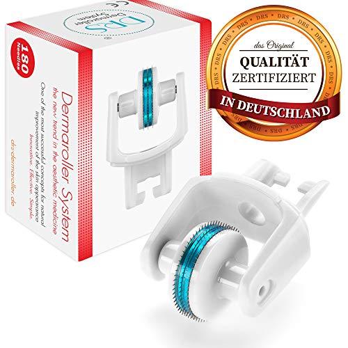 DRS Ersatzkopf mit 180 Nadeln für alle DRS Dermaroller mit wechselbarem Aufsatz - das Original, Nadeln aus Edelstahl, Gebrauchsanweisung auf Deutsch und Englisch, Nadellänge:0.30mm