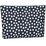 Thirty One Zipper Pouch In Navy Doodle Dot - No Monogram - 3045