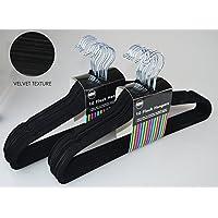 Royle Clothes hanger coat suit velvet flock black hanging wardrobe space trouser bar