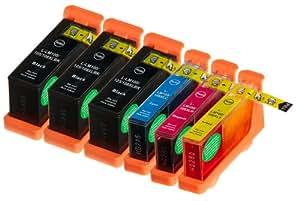Pack 6 Lexmark 100XL / #100 / 100 High Yield Cartouches Compatibles. 3 noir, 1 cyan, 1 magenta, 1 jaune compatible avec Lexmark Impact S301, Impact S305, Interact S605, Interpret S405, Intuition S505, Pinnacle Pro901, Interact S606, Platinum Pro905, Prestige Pro805, Prevail Pro705, Prospect Pro205, Genesis S815 , Genesis S816.Cartouches Compatibles. JET D ENCRE imprimantes. 14N0820 / 14N1068 , 14N0900 / 14N1069 , 14N0901 / 14N1070 , 14N0902 / 14N1071 © Encre Choix