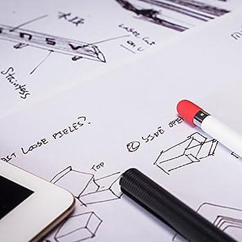 Frtma Für Apple Pencil Kappe Ersatz, Apple Bleistift Deckel Für Ipad Pro (4 Farben Combo, Mitternachts Blauweißminzerot) 4