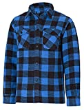 Giacca da esterno in legno Canadese Cutter Lumberjack Camicia, disponibile in diversi colori, Blue, L