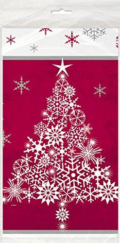s Kunststoff Sparkle Baum Weihnachten Tischdecke, 7ft x 4.5ft ()