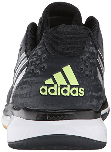 Adidas Response Volley Performance Boost W chaussures, noir / argent / bleu gras, 5 M Us Dark Grey/Silver/Frozen Yellow